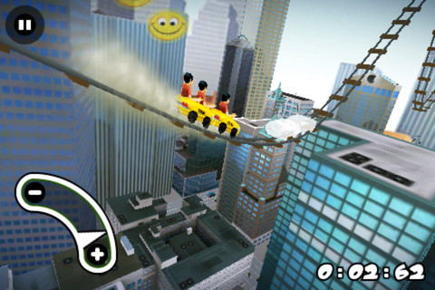 new york 3D rollercoaster rush per iphone