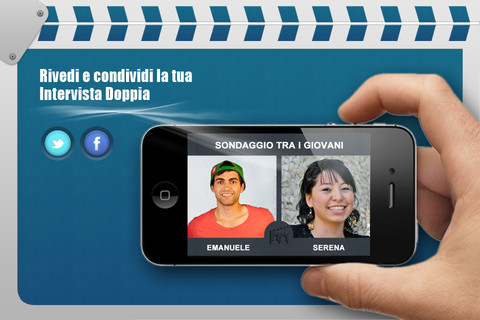app intervista doppia iphone