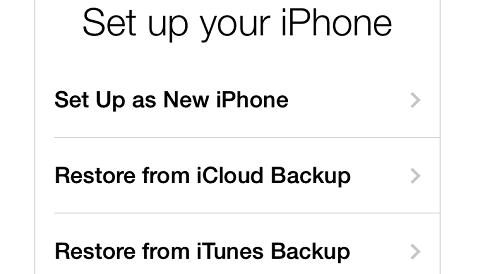 backup iphone